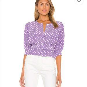 LPA polka dot puff sleeve blouse